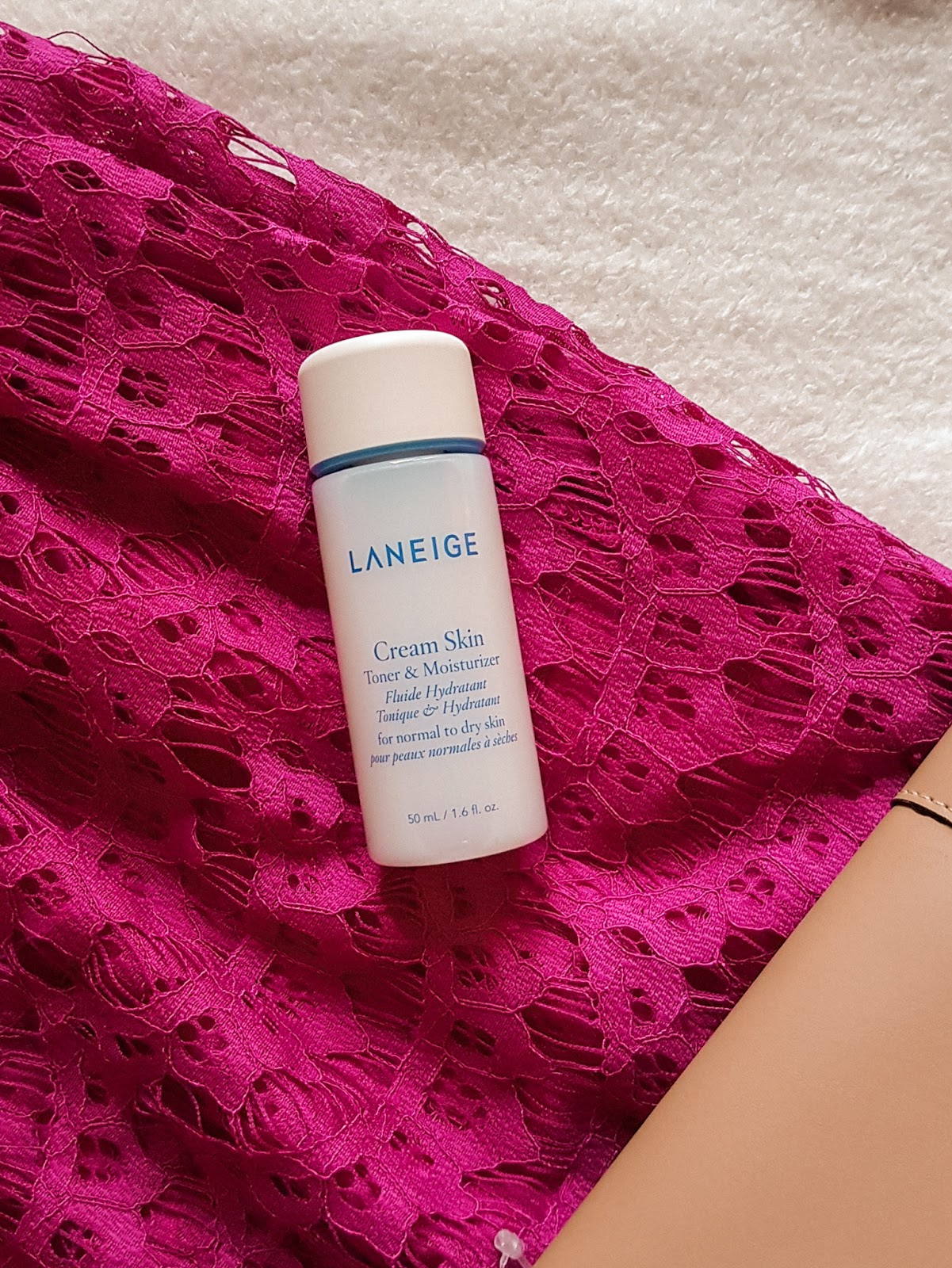 A two in one moisturizer and toner from Laneige