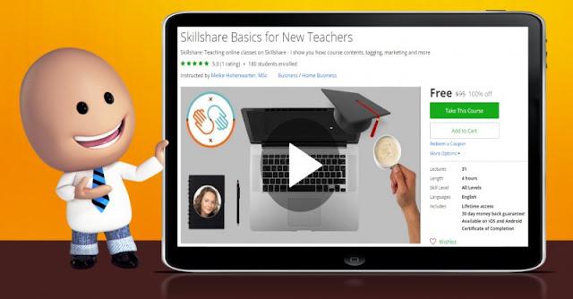 [100% Off] Skillshare Basics for New Teachers| Worth 95$