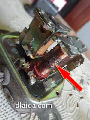 contoh gulungan tembaga yang bekas terbakar