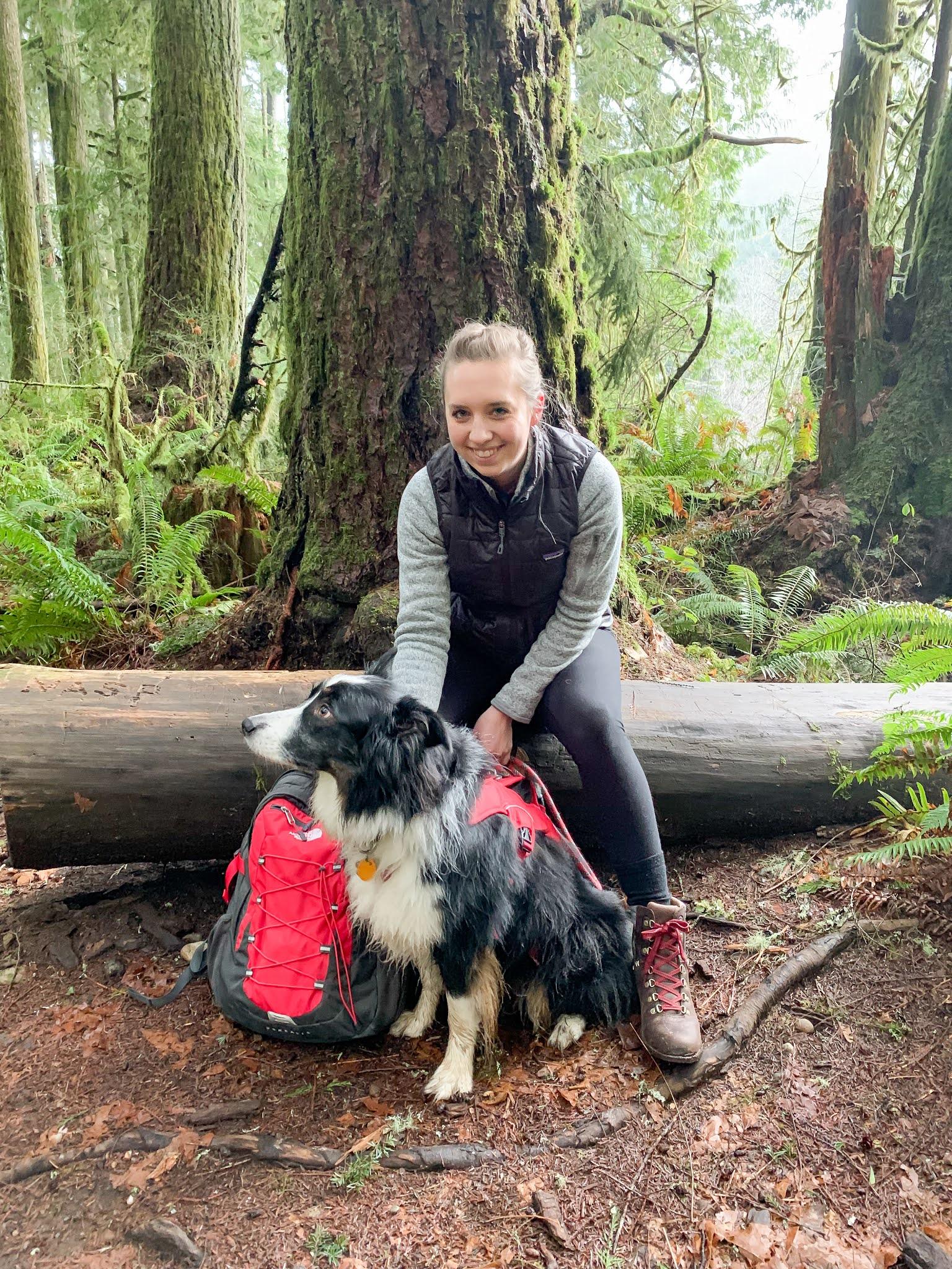 Me and Sam hiking