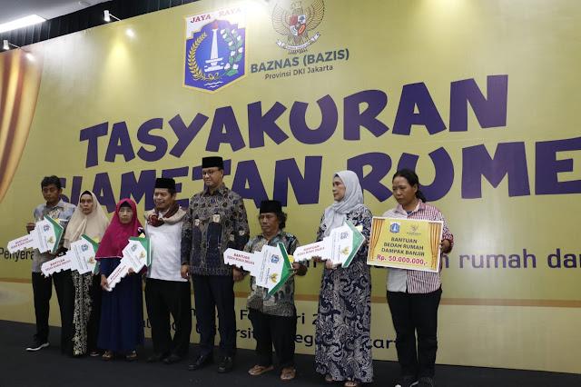385 Rumah Duafa di Jakarta Dapat Bantuan Renovasi