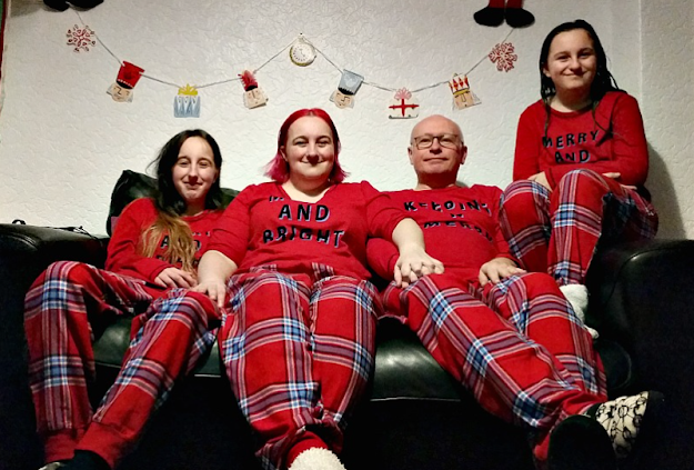 My family in matching pj's.