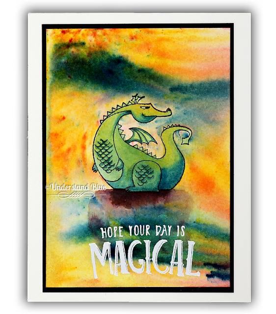Magical Day card with dragon - Stampin' Up! by Understand Blue