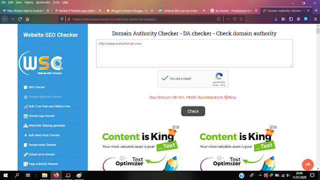 Cara Mengecek Domain Authority