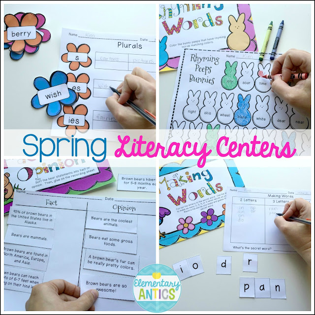 https://www.teacherspayteachers.com/Product/Spring-Literacy-Centers-1136039