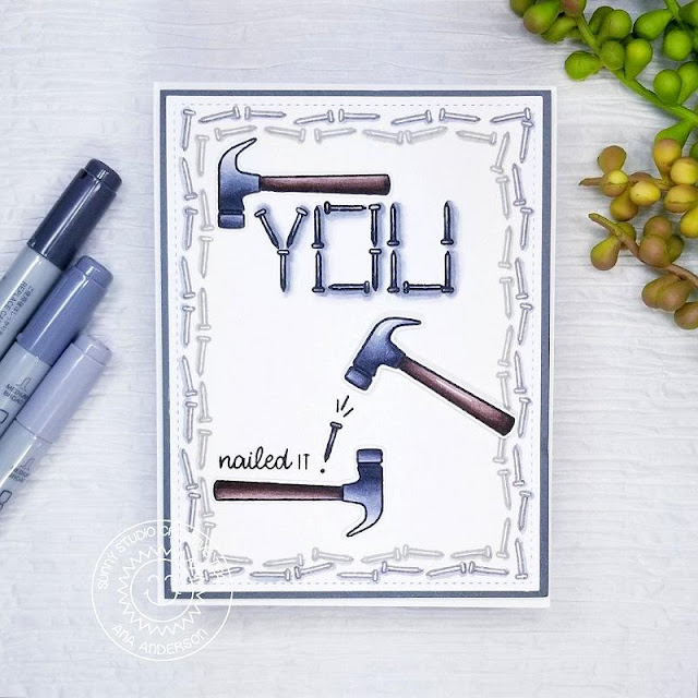 Sunny Studio Stamps: Tool Time Father's Day Card by Ana Anderson