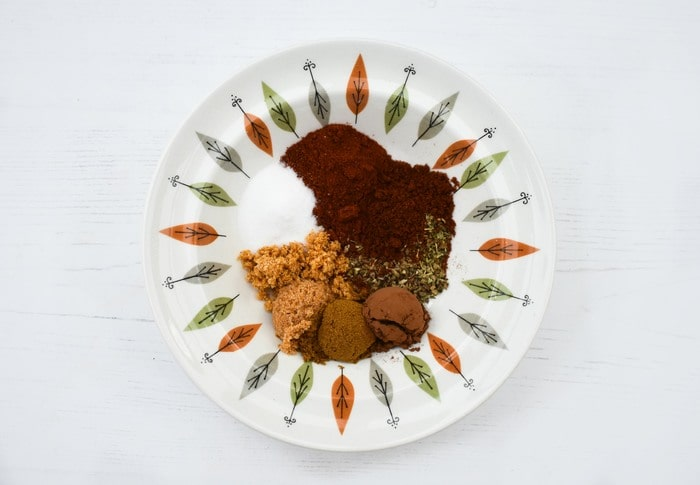 Spices laid in a bowl to make a Fajita Seasoning