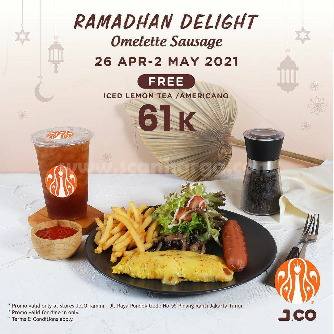 JCO Ramadhan Delight! Promo Paket Omelette Sausage harga hanya Rp21.000