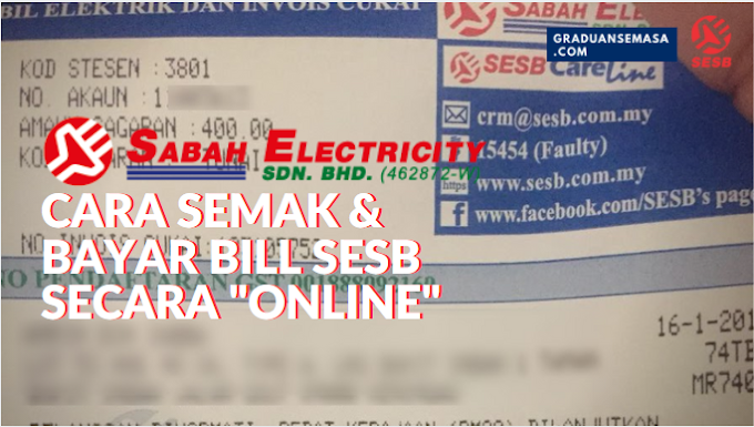 Panduan Cara Semak & Bayar Bil SESB Online via Online Banking