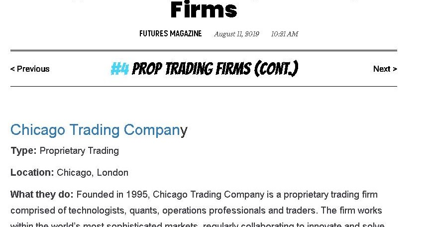 Proprietary Trading Group | Interactive Brokers