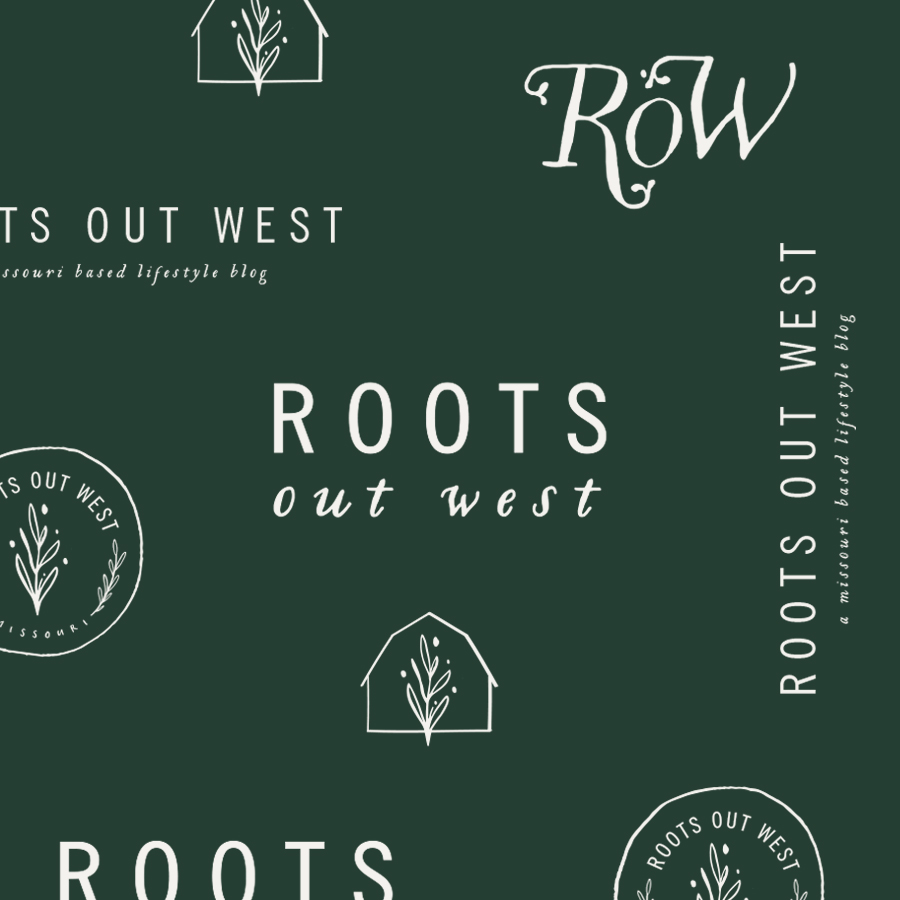 Roots Out West Modern Farmhouse Logo by Union Shore
