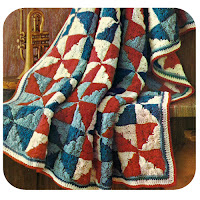 Patchwork Afghan Crochet Pattern, Four Colors