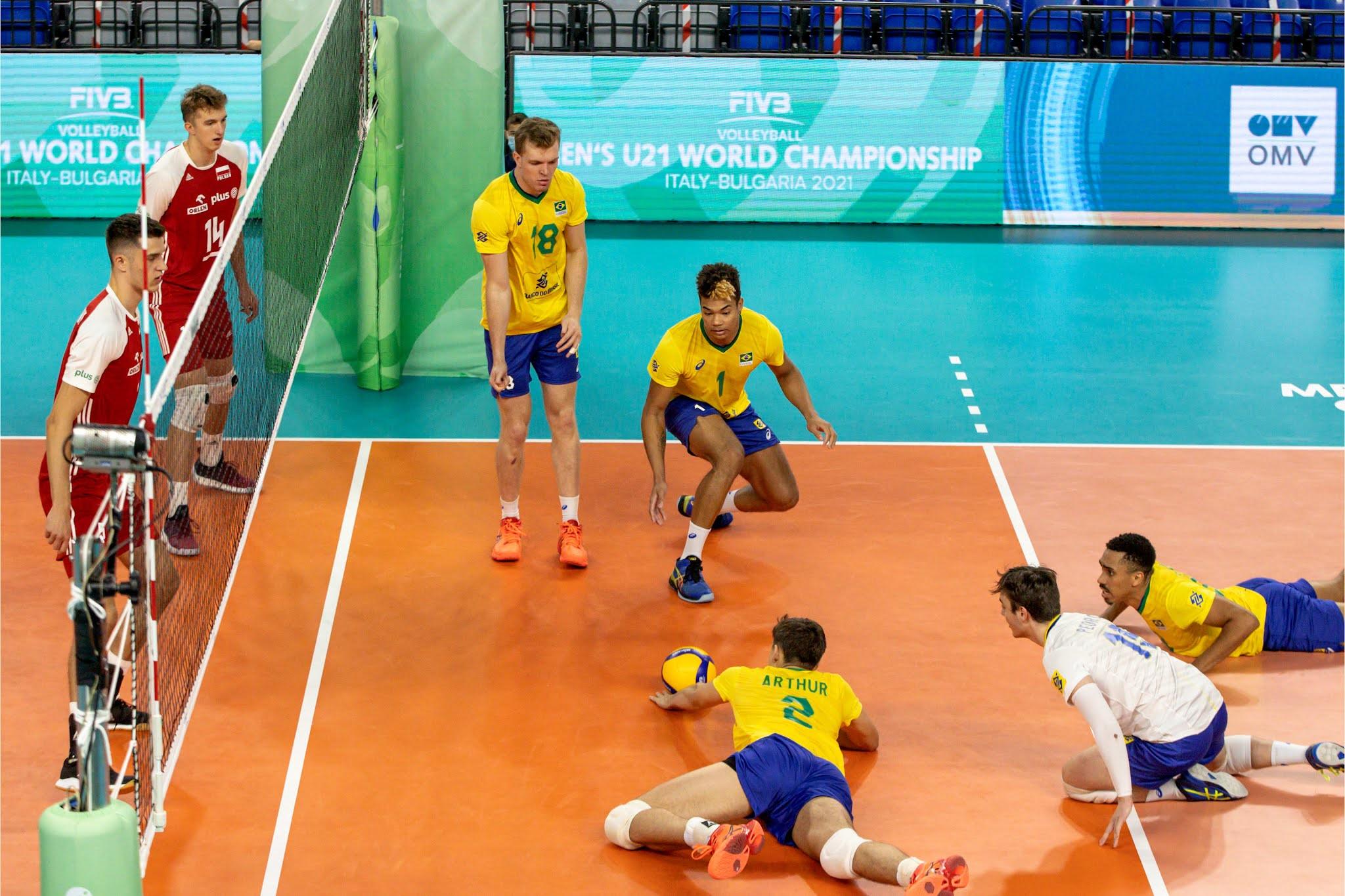 Brasil x Polônia Mundial sub-21 de vôlei