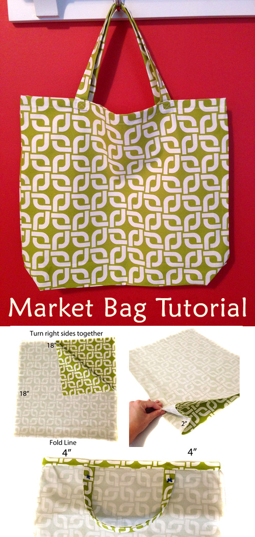 Market Bag Easy DIY Tutorial