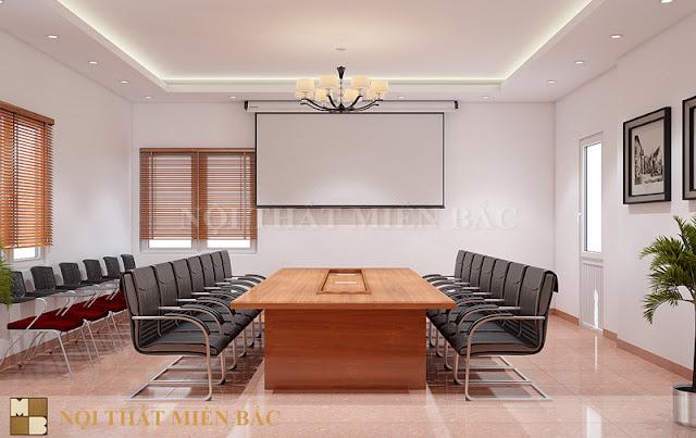 Việc tối giản những chi tiết trang trí thừa cũng như các vật dụng nội thất không cần thiết sẽ tiết kiệm được không gian và chi phí khi thiết kế nội thất phòng họp đẹp