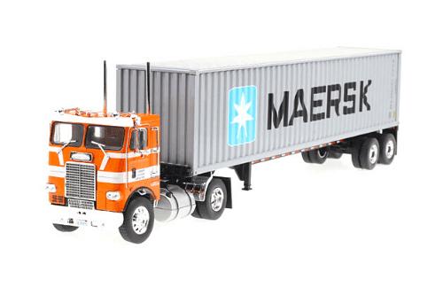 freightLiner coe 1:43 maersk, camiones 1:43, camiones americanos 1:43, coleccion camiones americanos 1:43, camiones americanos 1:43 altaya españa