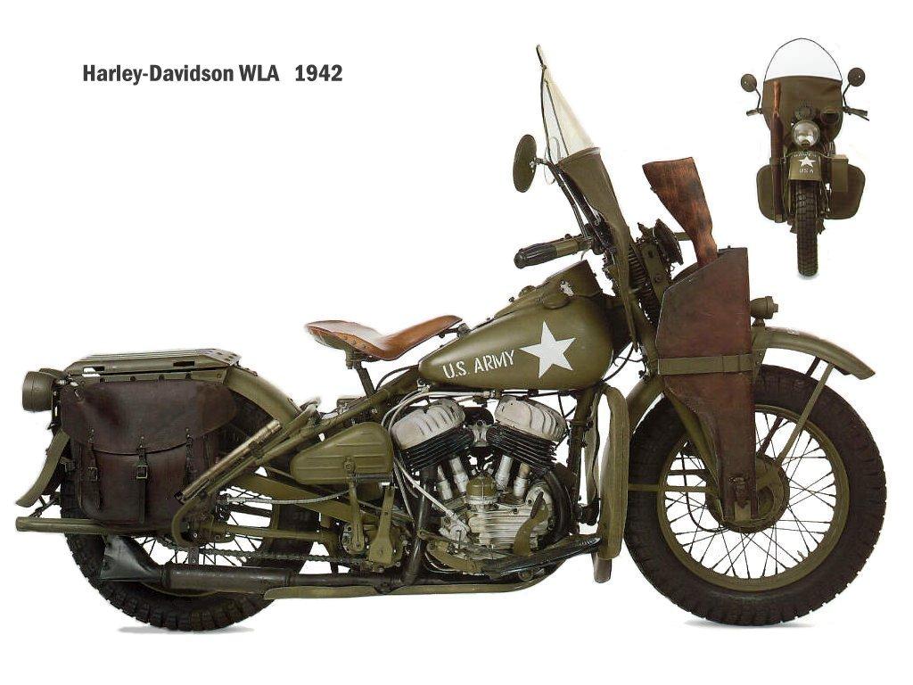 Old Harley Davidson: Harley Davidson Classic: Harley Davidson World War 2