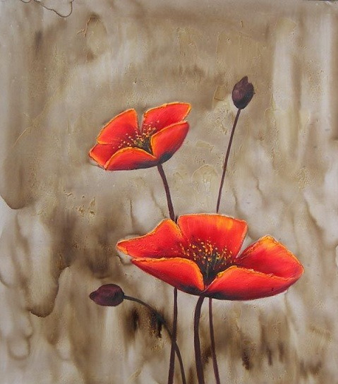 L 39 arte accessibile arredare con i dipinti a olio i fiori for Fiori dipinti a olio