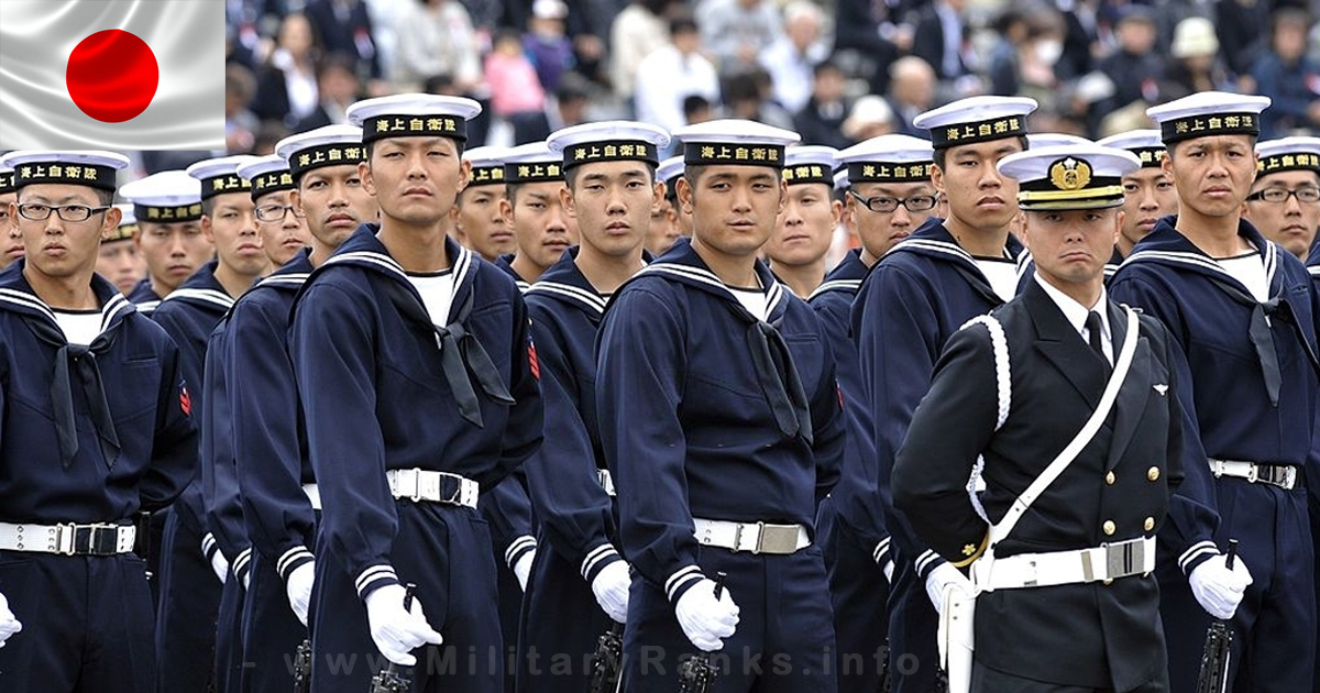 Japan Maritime Self-Defense Force Ranks and Insignia | Japan Navy Ranks Insignia Badges