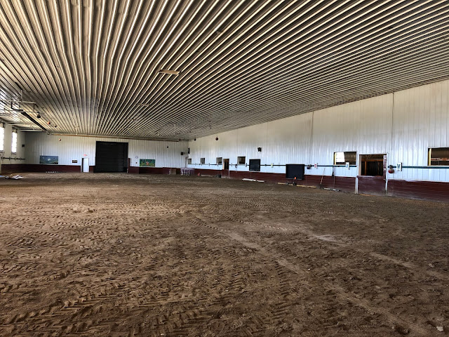 Visiting the barn at Equestrian Connection in Lake Forest, Illinois