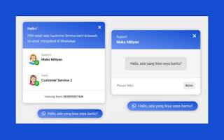 Memasang Widget Chat Whatsapp di Blogger