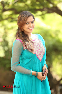 Actress Karunya Pictures in Salwar Kameez at Kannullo Nee Roopame Movie Opening  0024