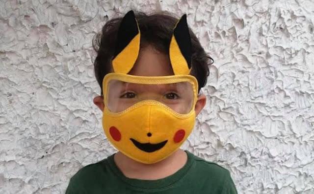 Máscaras de Proteção Facial para Crianças Divertidas
