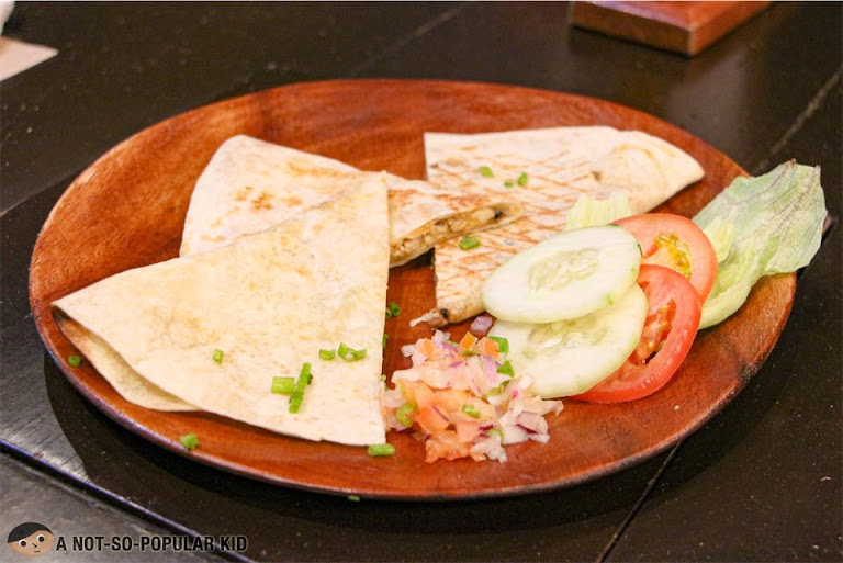 Plain, Beef and Chicken Quesadillas of Encima Roofdeck