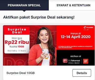 Paket internet murah adalah impian semua pengguna kartu prabayar untuk dapat menikmati ak Promo Paket Internet Telkomsel Murah Kuota 10GB hanya 22 Rb surprise Deal