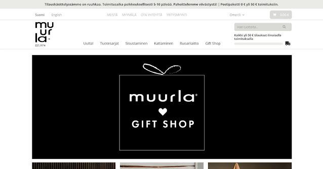 Kuvankaappaus, joka on otettu Muurla Design Marketing:in verkkosivujen etusivulta