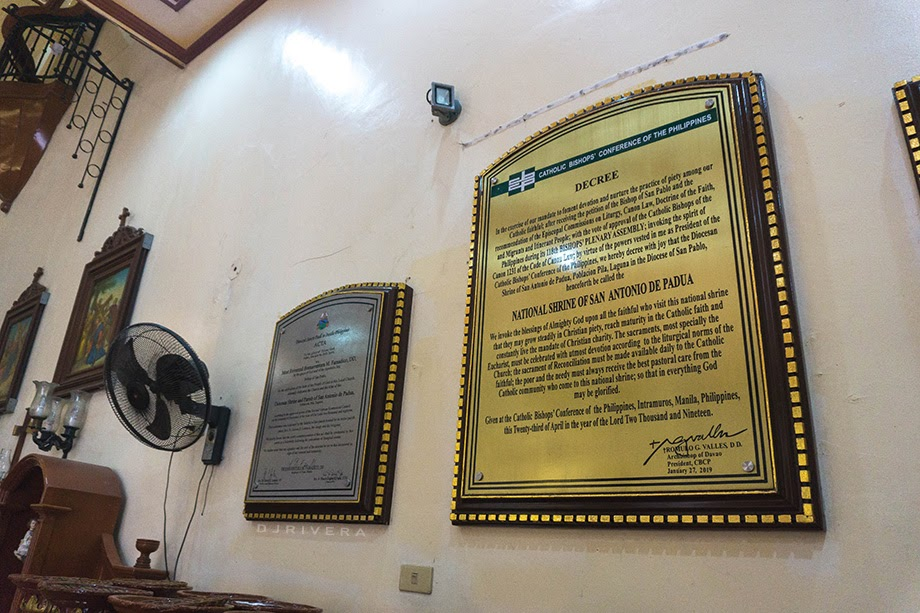 CBCP Decree elevating Pila Church to a national shrine status