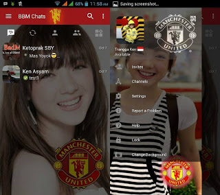 BBM Change Background with Manchester United