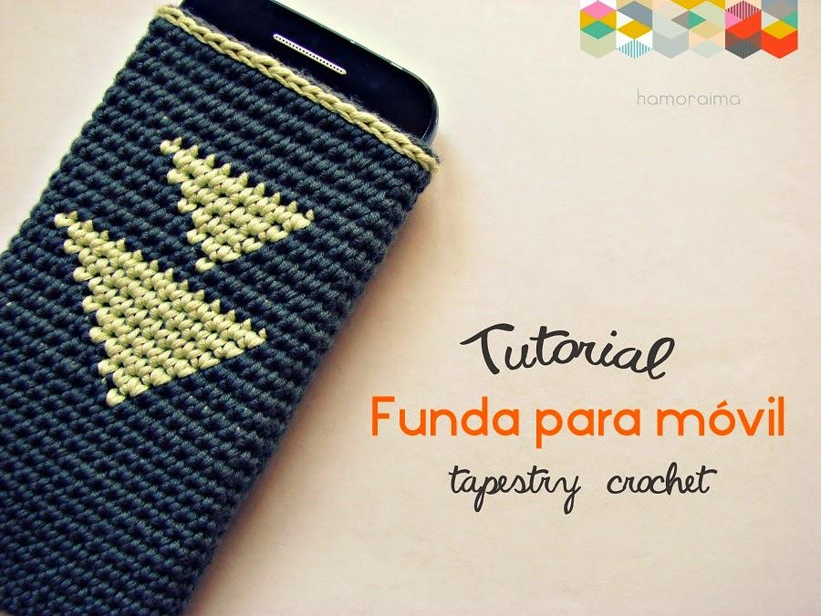 ▽ Patrón de crochet funda móvil ▽ - hamoraima
