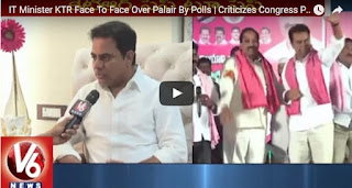 IT Minister KTR Face To Face Over Palair By Polls  Criticizes Congress Party