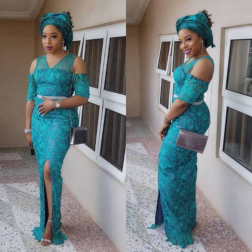 9 Latest Nigerian French Lace Styles and Dresses For Wedding