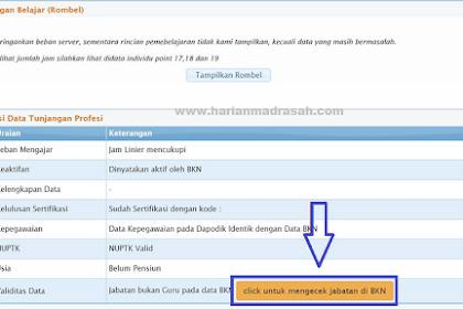 Cara Mengatasi Status Guru PNS di Info GTK Dinyatakan Bukan Guru