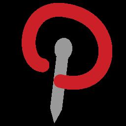 Pinterest Logo Folder Icon