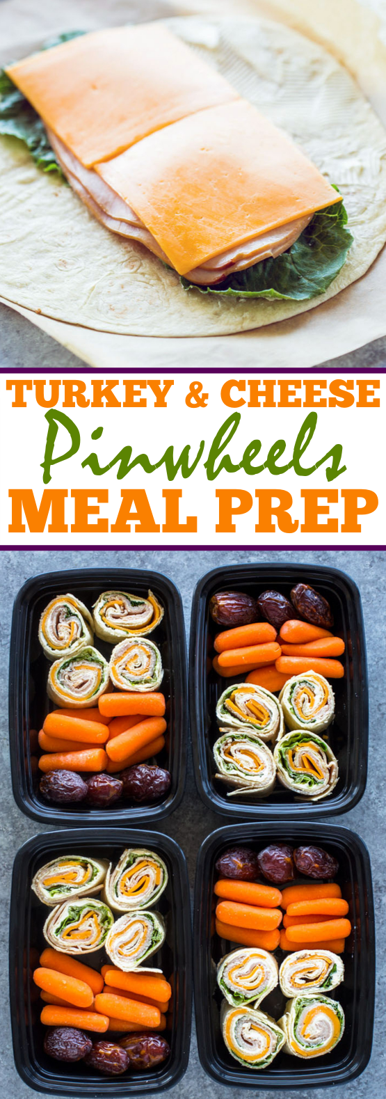 Turkey and Cheese Pinwheels (Meal-Prep Idea) #lunch #dinner