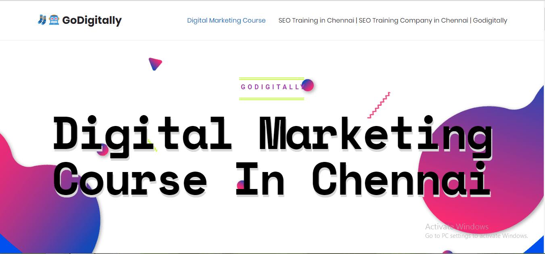 GoDigitally Digital Marketing Course Training Institute in chennai