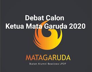 Debat calon ketua mata garuda 2020