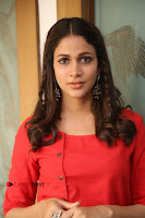 Actress Lavanya Tripathi Latest Pos in Red Dress at Radha Movie Success Meet .COM 0230.JPG
