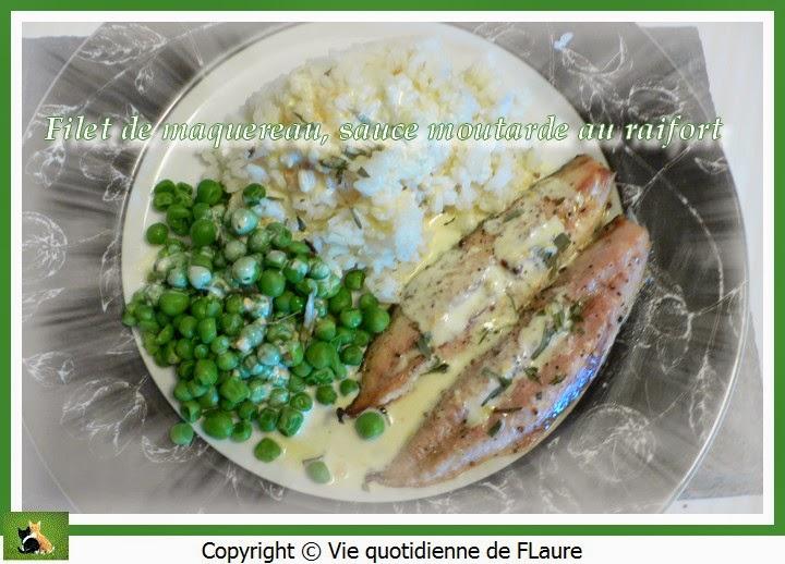 Vie quotidienne de FLaure: Filet de maquereau, sauce moutarde au raifort