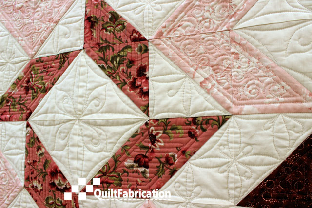 Joy quilt center and negative space