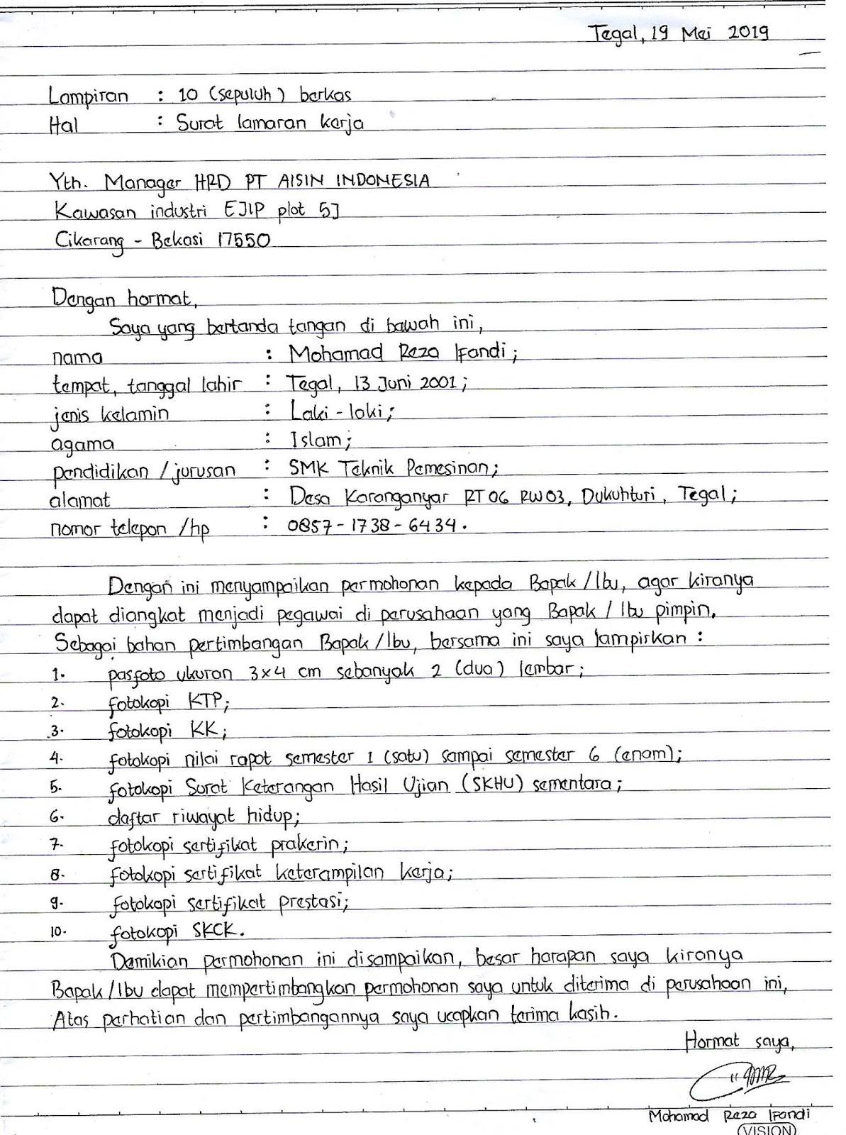 3 Langkah Mudah Membuat Surat Lamaran Kerja Yang Benar
