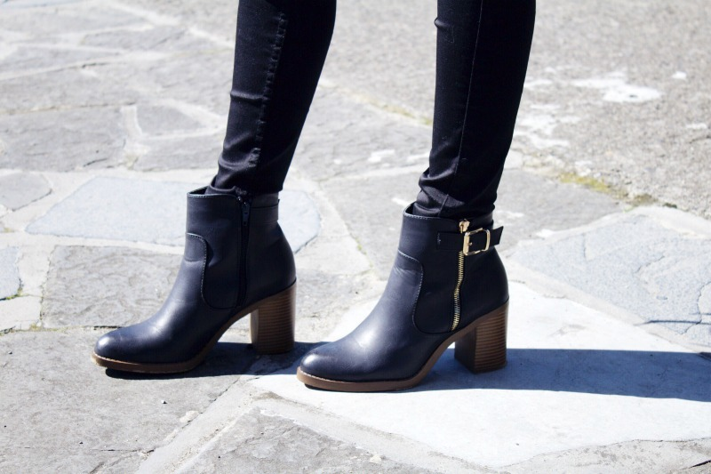 Kurt Geiger black buckle boots
