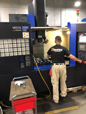 CNC Milling with VESTA 100 12K machine at Sunshine Machining & Tool, Sarasota FL