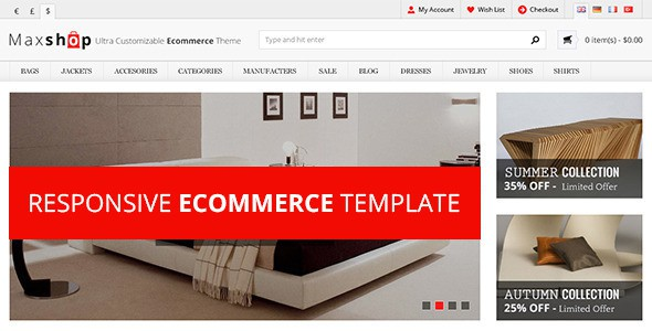 free responsive HTML eCommerce template