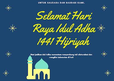 Ucapan Selamat Hari Raya Idul Adha 1441 Hijriyah 2020