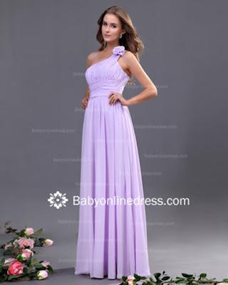 Satin Full-Length Formal Bridesmaid Dress