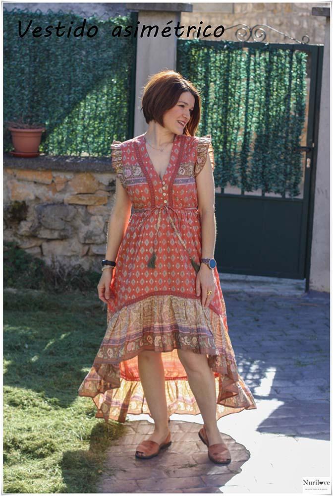 Vestido asimétrico, ven al pequeño comercio y encontrarás algo diferente